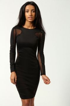 Cheap Lily Mesh Exposed Top and Side Bodycon Dress Black online - All  Products dcc8d6bc4