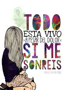 Si me sonreís ❤ Holy Shirt, Qoutes About Life, Pop Rocks, Carpe Diem, Rock N Roll, Nostalgia, Wisdom, Tumblr, Songs