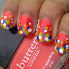 Polka | Dot. the trick is to apply the dots over wet polish, so that the finish is smooth.