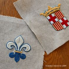 BLAZON2 ヨーロッパの古い地図の旗を参考にしたエンブレム。 Embroidery Patches, Cross Stitch Embroidery, Embroidery Patterns, Hand Embroidery, Cross Stitch Designs, Needle And Thread, Needlework, Initials, Sewing