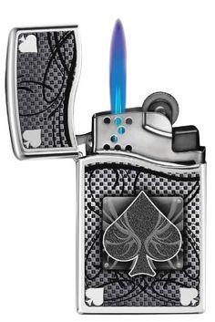 Zippo Blu2 Spade High Polish Chrome Lighter