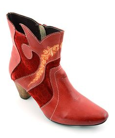 Look what I found on #zulily! Red Elite Scarlett Leather Boot by Corky's Footwear #zulilyfinds