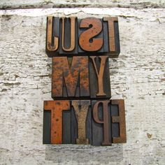 vintage letterpress printers blocks: small by home & glory | notonthehighstreet.com