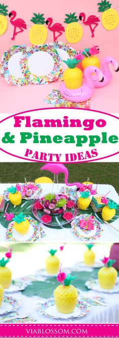 You will love our Flamingo and Pineapple Party Ideas and decorations!  They are perfect for a Summer Party, a Tropical party, a pool party or luau party!