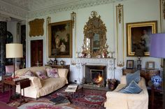 """Bedroom in Glin Castle (Photo: James Fennell for """"The Irish Country House"""" by Vendome Press) I have never been a big fan of trends, as I feel that interiors need to be timeless and particular to their owners, a true … Continue reading → English Country Style, Country Style Homes, French Country House, French Country Decorating, Country Houses, British Country, Interior Design Inspiration, Home Interior Design, Interior Architecture"""