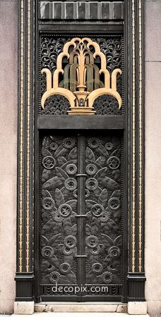 Art Deco door, Cheney Brothers Bldg., NYC. Stunning.