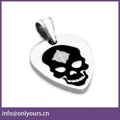 2017 new design beautiful jewelry stainless steel skull pendant for unisex