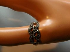 Vintage Silver Marcasite decorated women teens ring size 9.75, 2.2 grams. $30.00, via Etsy.