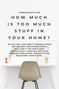 How much is too much stuff in your home - Domesblissity Home Office Organization, Organizing Your Home, Hack My Life, Sweep The Floor, Do You Really, Do You Feel, How Are You Feeling, Do Your Own Thing, How Many Kids