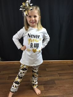 Never grow up top and pant set laney lu s boutique hearts and