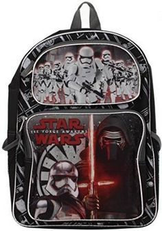 Star Wars Episode 7 The Force Awakens Backpack Features Kylo Ren and  Stormtroopers -- Visit 4e81f9816ca17