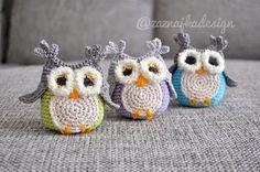 Crochet owl decoration or toy by ZaznajkaDesign on Etsy
