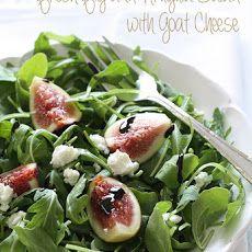 Fresh Fig & Arugula Salad with Goat Cheese Recipe