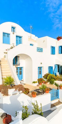 View top-quality stock photos of White Architecture Of Greek Style Apartments In Imerovigli Village On Santorini Island Cyclades Greece. Santorini House, Santorini Island, Greece House, Myconos, Beautiful Places To Travel, Greece Travel, Greek Islands, Dream Vacations, Romantic Vacations