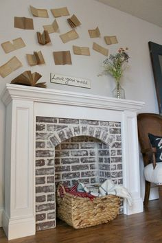 how to diy a faux brick fireplace and youu0027ll never believe how easy it