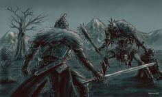 Dark Souls 2: Faraam Knight vs Executioner by MenasLG on DeviantArt