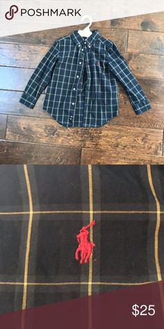 Ralph Lauren Excellent used condition wash in cold water with hypo-allergenic detergent and air dry only. Smoke/Pet free home Ralph Lauren Shirts & Tops Button Down Shirts