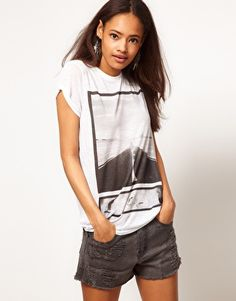 ASOS T-Shirt with Burnout Photographic Story