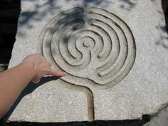 Add a finger labyrinth! Tracing a small labyrinth at the Coastal Maine Botanical Gardens. Labyrinth Garden, Labyrinth Maze, Garden Art, Garden Design, Moon Garden, Succulent Planters, Hanging Planters, Succulents Garden, Spiritual Garden