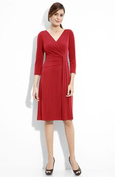 Very affordable but beautiful drape dress from Tahari