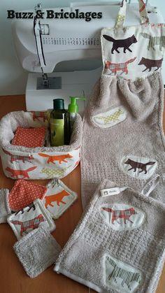 Buzz & Bricolages: Démaquillage foxy-eco Cotons lavables et essuies-mains renards