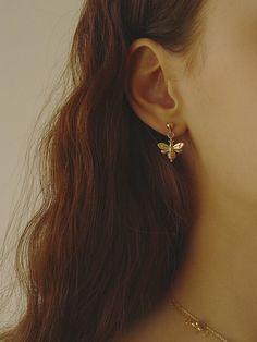 Vintage Style, Vintage Fashion, White Balloons, 18k Gold, Korea, Bee, Plate, Rose Gold, Brass