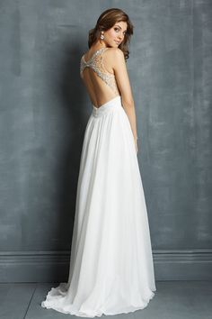 2014 Sexy Prom Dress Scoop Beaded Neckline Off The Shoulder Floor Lenth Chiffon