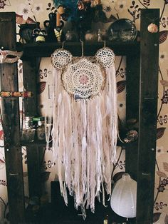 - Made to order! -     Bohemian vintage inspired  set of three dreamcatchers for ur gypsy bedroom     Available variations:    LMM - one big  ~ 11'' + two medium ones ~ 8''    MSS -  one medium ~ 10'' + two small ones  ~ 3,6''     MMS - One small ~ 3.6 + two medium ones ~ 8''    Available color themes and styles:    - Boho pastel - in creamy, baby blue, pale pink, light purlpe etc colors  - Dark boho - in coffee brown, dark teal, deep purple, wine red etc colors  - All white - where i will…
