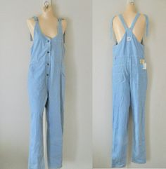 Women Overalls Denim Overalls Women Dungarees by TheVilleVintage, $49.99