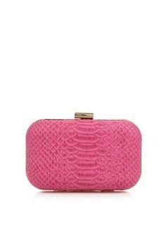 Designer pink faux snakeskin clutch bag by Star By Julien Macdonald :: Clozette Shoppe  http://shoppe.clozette.co/product/debenhams-3109458373/designer-pink-faux-snakeskin-clutch-bag