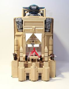 Rooftop scene from Ghostbusters in LEGO form