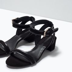 BLOCK HEEL ANKLE-STRAP SANDALS-View all-Shoes-WOMAN | ZARA United States