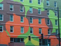 kleur in de architectuur, kleurrijke facade chicago
