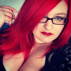 @redheadlady is intensely sexy with our #PillarboxRed in her hair.