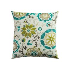 Rizzy Home Fresh Floral Throw Pillow, Green