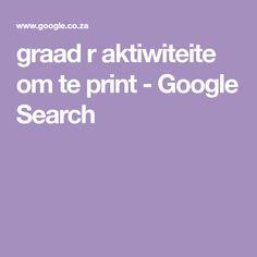 graad r aktiwiteite om te print - Google Search Afrikaans, Om, Google Search