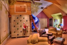 i like the indoor playground... just not in the living room... den maybe or even better... playroom