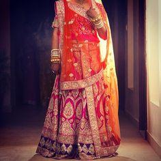 Gorgeous Pink Orange and Gold Lehenga from jaipur's Vasansi store. Absolute brilliance.