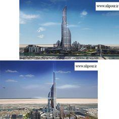 بلندترین آسمانخراش دنیا در عراق...ارتفاع این آسمانخراش هزار و صد و پنجاه و دو متر است و قرار است بلندترین ساختمان دنیا باشد.این برج قرار است در کنار پل خلیج بصره،بزرگترین بندر عراق ساخته شود.این برج از چهار برج کوچکتر با ارتفاعهای متفاوت تشکیل شده است.برج مرکزی دارای جداره ای صیقلی است و برروی سطوح پایینتر و فضاهای عمومی زیر برج،سایه می اندازد.این حجم سایه اندازی برای اقلیم شهر بصره بسیار مطلوب است زیرا دمای این شهر در تابستانها به بیش از پنجاه درجه سانتیگراد می رسد