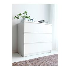 MALM Chest of 3 drawers - white - IKEA