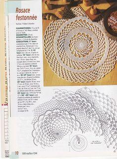 Magazine 1000 mailles № 09,244,245,255 (knitting crochet napkins) - knit network - WORKS HAND - Publisher - LIFE LINE
