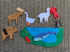 Down by the bay, where the watermelons grow Back to my home, I dare not go. Flannel Board Stories, Flannel Boards, Animal Hand Puppets, Pete The Cats, Flannel Friday, Sequencing Activities, Hungry Caterpillar, Stories For Kids, Art Education