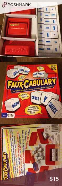 FAUX • CABULARY This game is new, the box is open but inside is still  unopened. Other