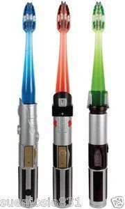 GUM Star Wars Light Saber Anakin Toothbrush Sunstar Butler Blue New in Package by LGP. $22.61. This toothbrush is in the shape of a Light SaberTM that flashes for 1 minute to encourage longer brushing and features soft, interdental bristles that clean between the teeth. There is a unique Light SaberTM design for each character: Anakin Skywalker, Darth Vader and Yoda.