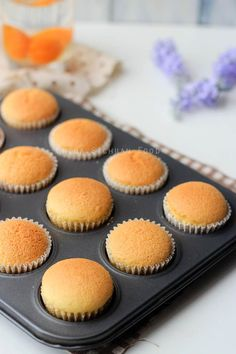 Chinese egg cake/ Mini Chinese sponge cake. It looks like the ones I had in China! If only I had a recipe for this without using an oven so I could make it in China.