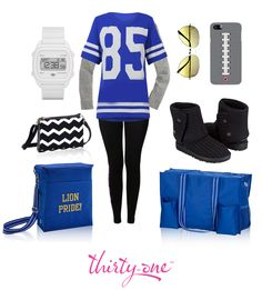Tailgate style! Check out this look, featuring our Cross Town Wallet in Black Chevron!