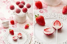 Frozen Yogurt Strawberry Pops | 100 Things You Can Eat On A Stick