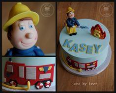 Fireman Sam cake with 2D Firetruck for Kasey! kez* x