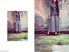 Floral peplum jacket, (azrak collection) #azrak #scarlet #dress #prefall #fusion #streetstyle #fashion #ethnic #vintage #cotton #handprinted #vegetabledyed #floral #peplum #blues https://www.facebook.com/itrbykhyati