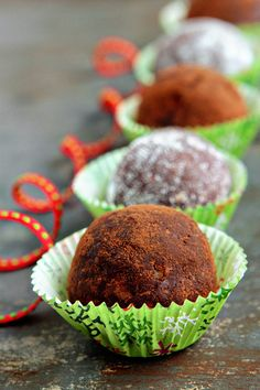 """Rum-Balls...these are so easy to make and yummy (if you don't mind """"a little"""" rum!!! Make a great item to share at a Christmas party."""